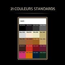 21 couleurs standards