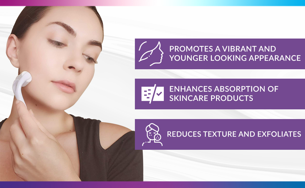 face derma roller microneedle best skin care product reduce texture absorption healthy complexion