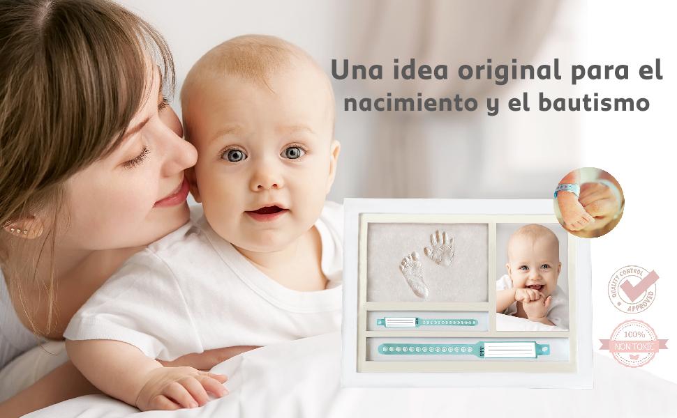 muby, regalos recien nacidos niño, cuadro huella bebe,huella bebe,marco huella bebe,regalos nacidos
