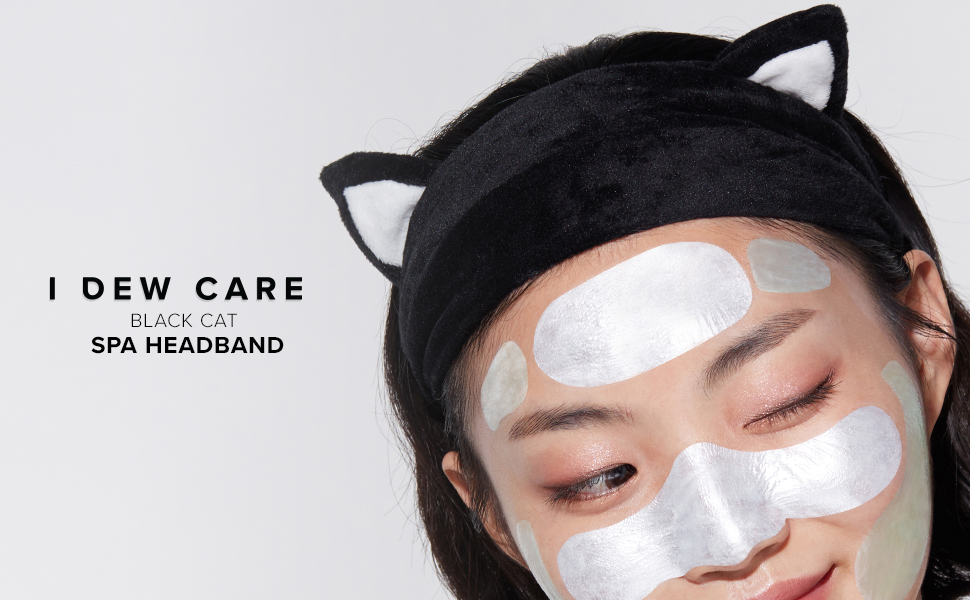 i dew care, black cat headband