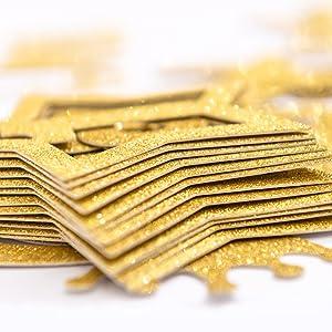 1st birthday glittered star gold banner photo number milestone