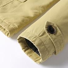Men's Fleece Windproof Jacket Wool Outerwear Single Breasted Classic Windbreakers Jacket Coats