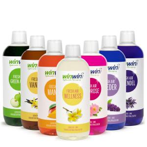 winwinClean Fresh Air, Duftserie, Green Apple, Vanille, Mango, Wellness, Wildrose, Flieder, Lavendel