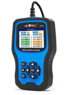 Autophix Obd2 Diagnosegerät Alle Systeme Mit 8 Sonderfunktionen Auto Codeleser Scanner Mit Abs Srs Batterieprüfung Epb Öl Bms Reset Dpf Tps Service Usw 7610 Auto
