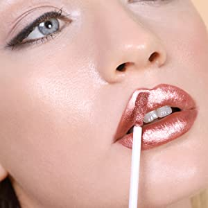 bronze metallic liquid lip high shine long wear stunning colour all day