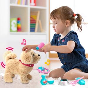 Stuffed Puppy Dog for Kids Boys Girls