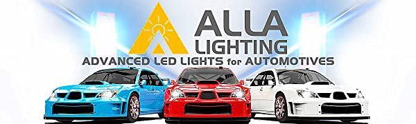 Alla Lighting Extremely Super Bright H8 H9 H11 LED Headlight Conversion Kits Bulbs