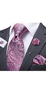 Pink Paisley Tie
