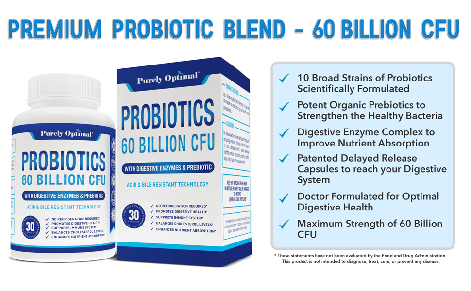 Purely Optimal Probiotics Benefits