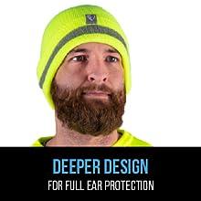 Deeper design for full ear protection