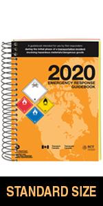 "2020 Emergency Response Guidebook (ERG) - English - 5.5"" x 7.5"" (Standard Size), Spiral Bound"