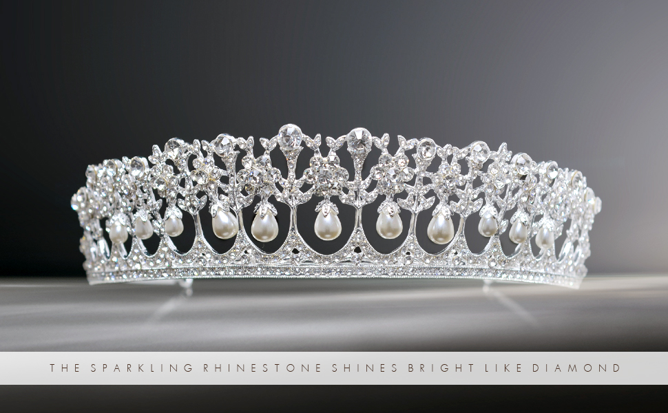 Details about  /Love Wire Silver Plated Tiara Rhinestone Women Pageant Princess Bridal