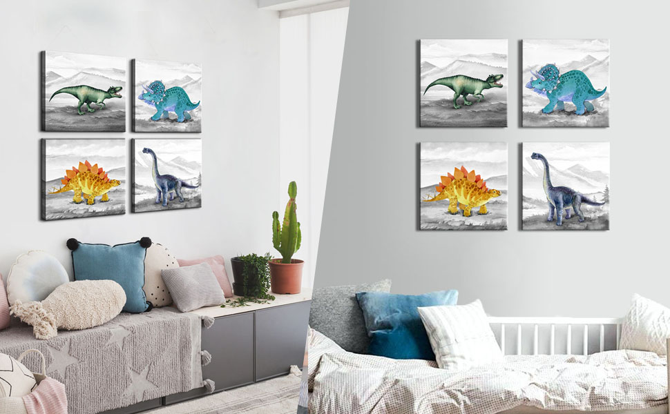 dinosaur wall art for boys room