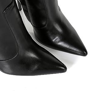 Ellie Tailor Dizzy High Heel Knie Stiefel Knee Boots Braun 42 43 44 45 46