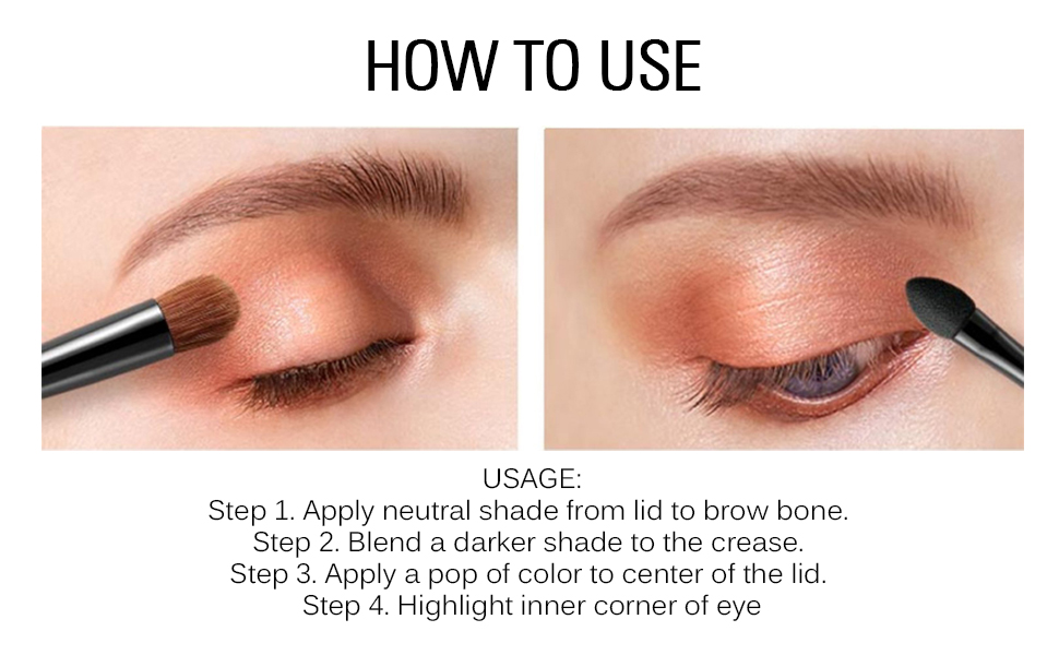 how to use eyeshadow makeup pallet