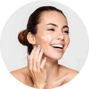 Apply face gel