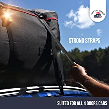 Cargo Carrier - Car Top Carrier – Roof Bag -19 Cubic Feet – Heavy Duty, Waterproof Bag for Extra Car