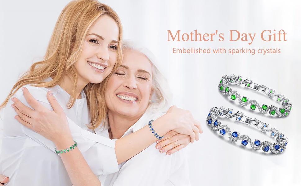 Tennis Bracelet Plated Silver Bracelets for Women