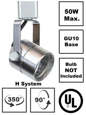 50154 Track Lighting Fixture GU10 Base No Bulb