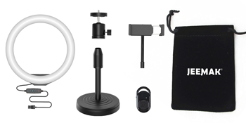 ring light with phone holder for photography