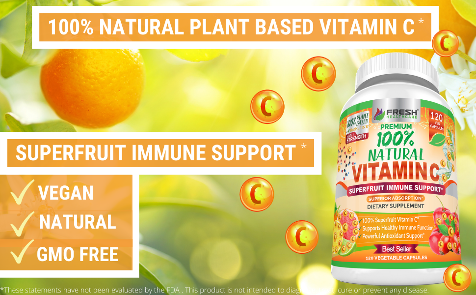 natural vitamin c best supplement capsules rose hips 100mg 500mg acerola cherry camu camu powder