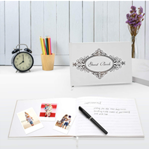 Quinceanera Baby Shower Birthday Book Or Graduation Party 9x6 Photo Guest Book With Pen Gift Box Matte Paper Ideal For Weddings