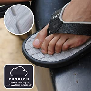 extra cushioned and comfortable flip flops for men, soft and comfortable men's slippers
