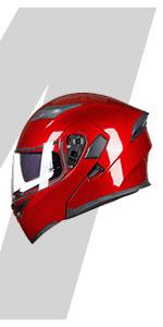 ILM Motorcycle Dual Visor Flip up Modular Full Face Touring Sport Helmet DOT
