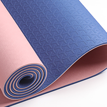 Two-color yoga mat