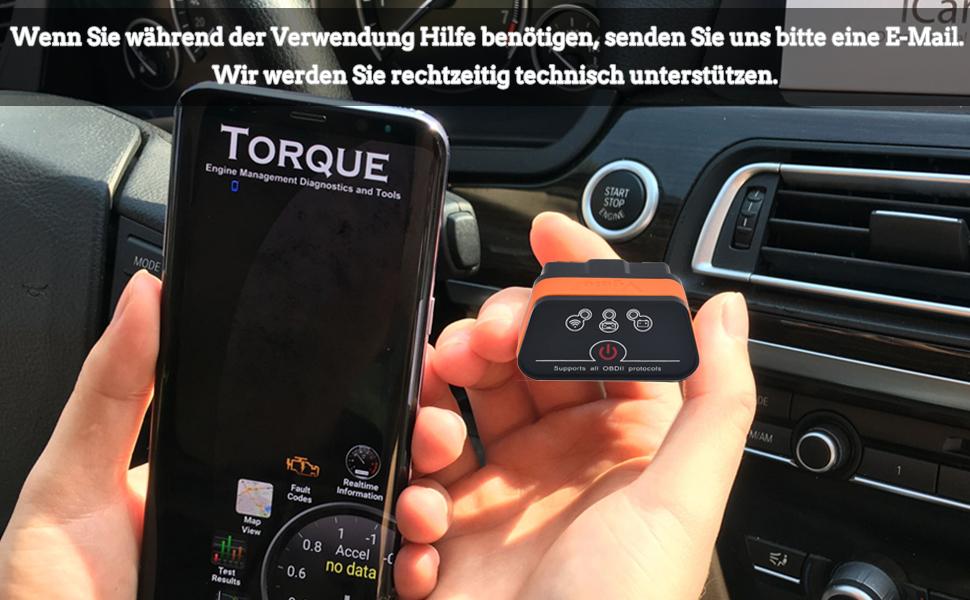 Vgate Obd 21 Icar 2 Wifi Wlan Eobd Obdii Obd 2 Kfz Auto Interface Diagnose Android Ios Windows Schwarz Orange Auto