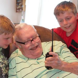 Radio Operator Teaching DMR to Kids