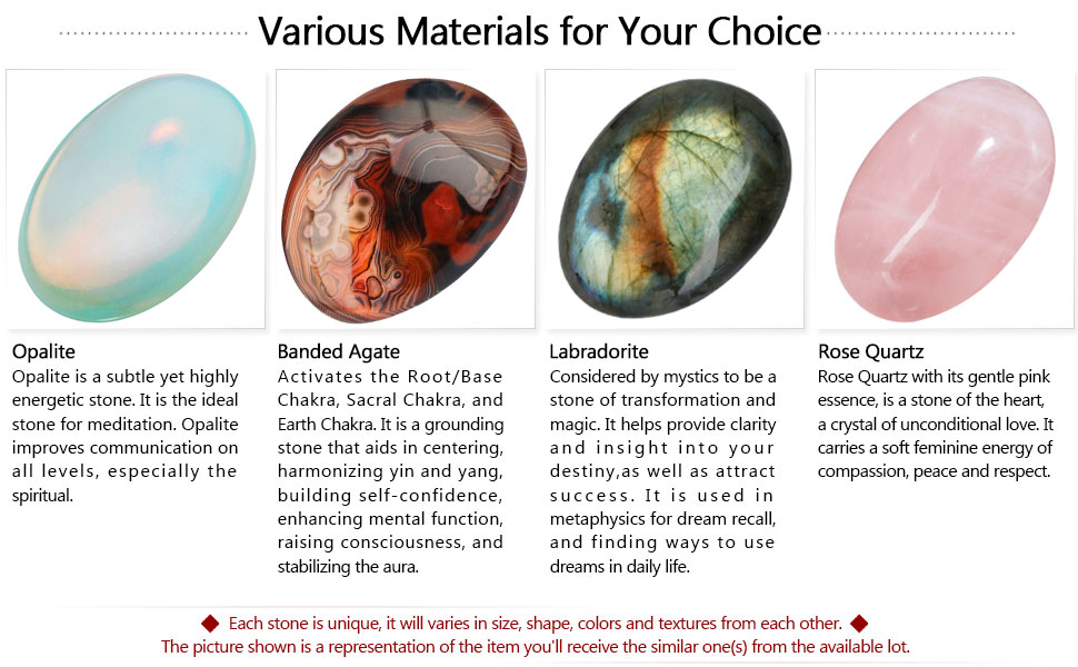 Various Materials for Your Choice