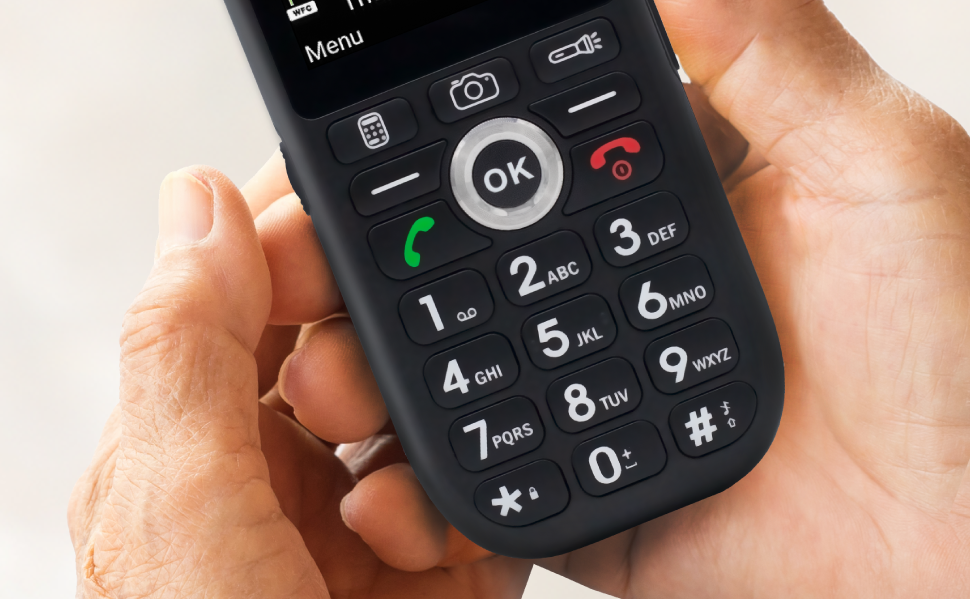 Big-Button-Keypad, big buttons, easy mobile phone, 4G, 5G, easy-to-use phone, simple phone, snapfon
