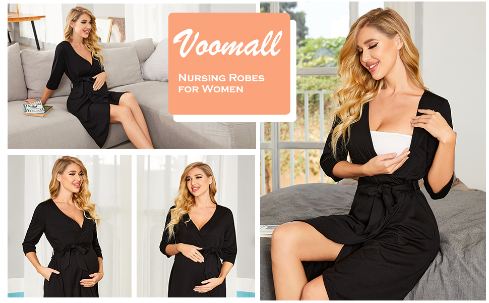 maternity nursing robe maternity robe and nightgown sets robes for women maternity