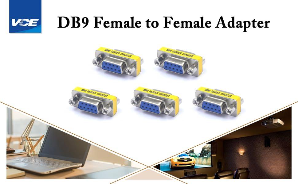 9 Pin Female to Female Mini Gender Changer
