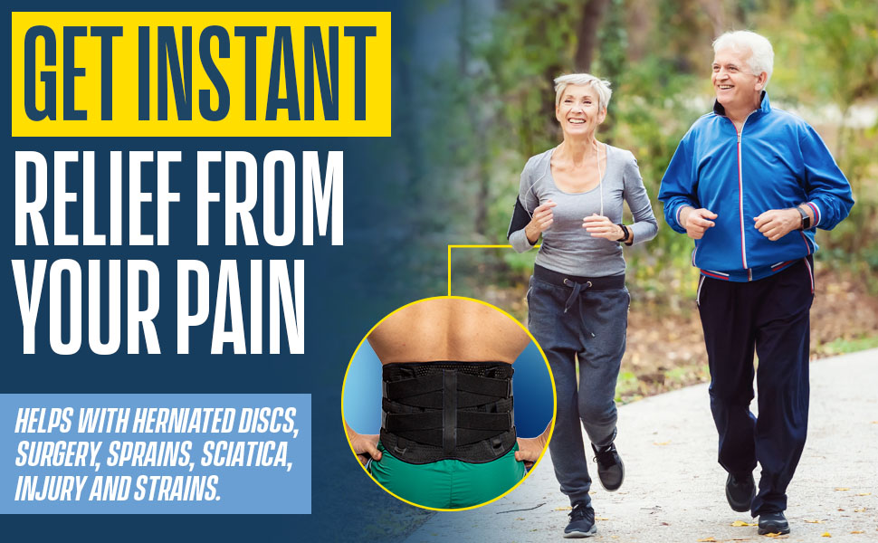 get instant relief from your pain, including pain caused by herniated discs, surgery, sciatica, etc.
