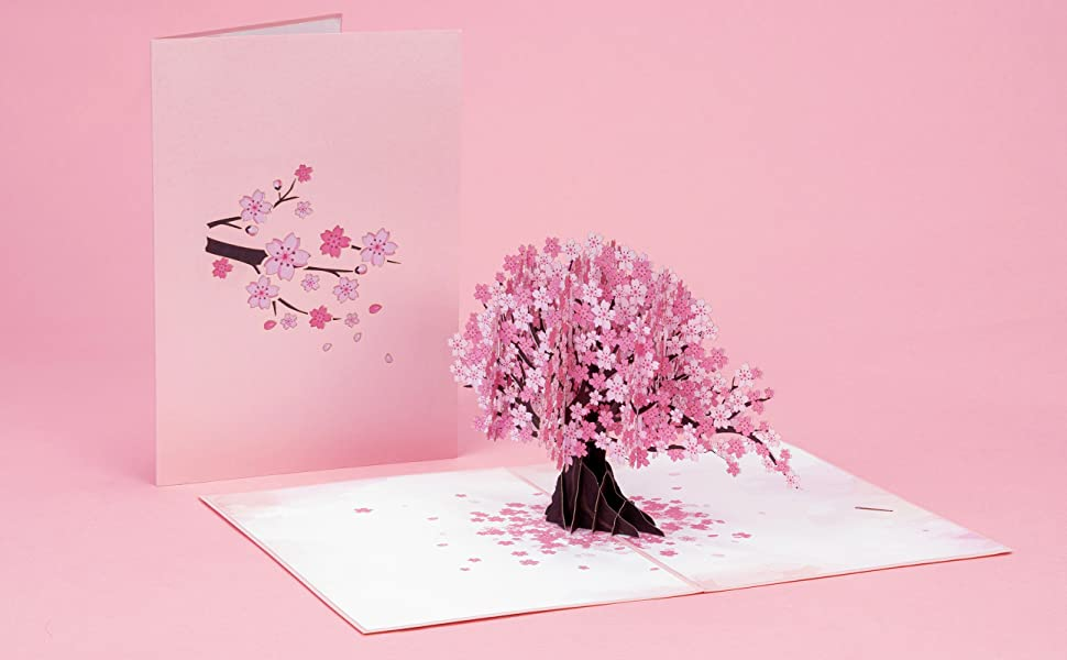 Paper Love Cherry Blossom Pop Up Card