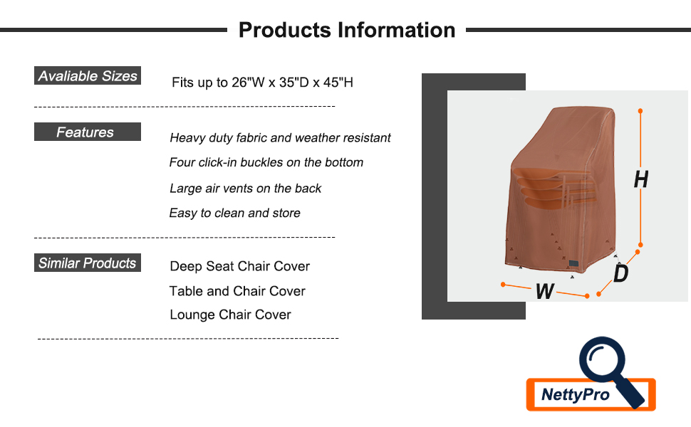 outdoor chair cover stackable