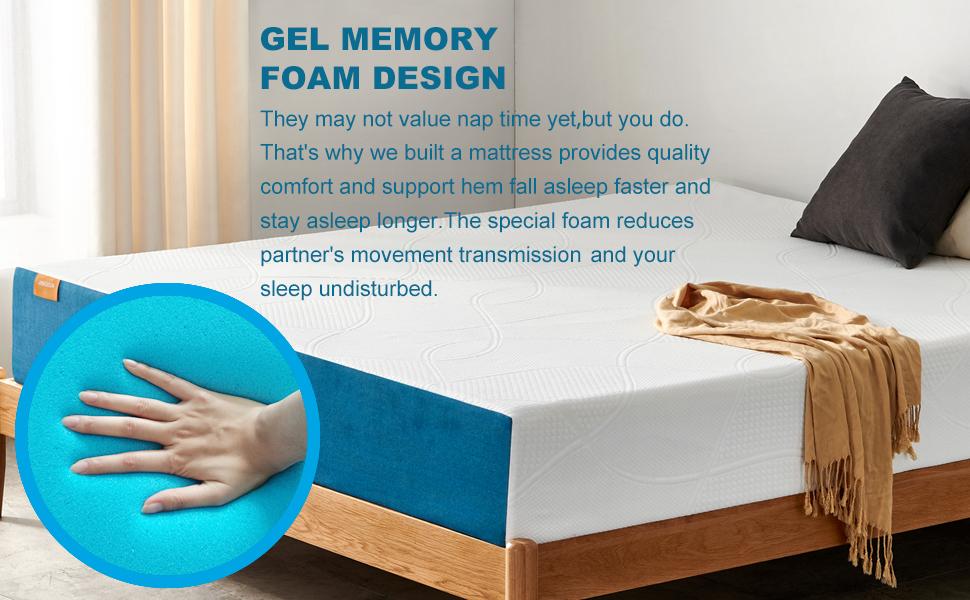 twin size mattress green tea gel memory foam mattress in a box twin mattress medium firm mattress
