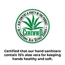 Certified by the International Aloe Science Council in 2020 to contain 15% aloe vera content.