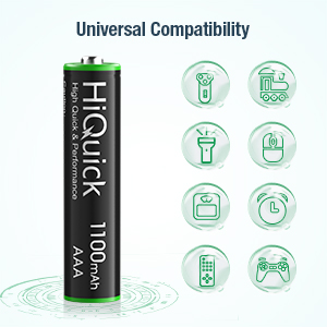 HiQuick AAA Rechargeable Batteries
