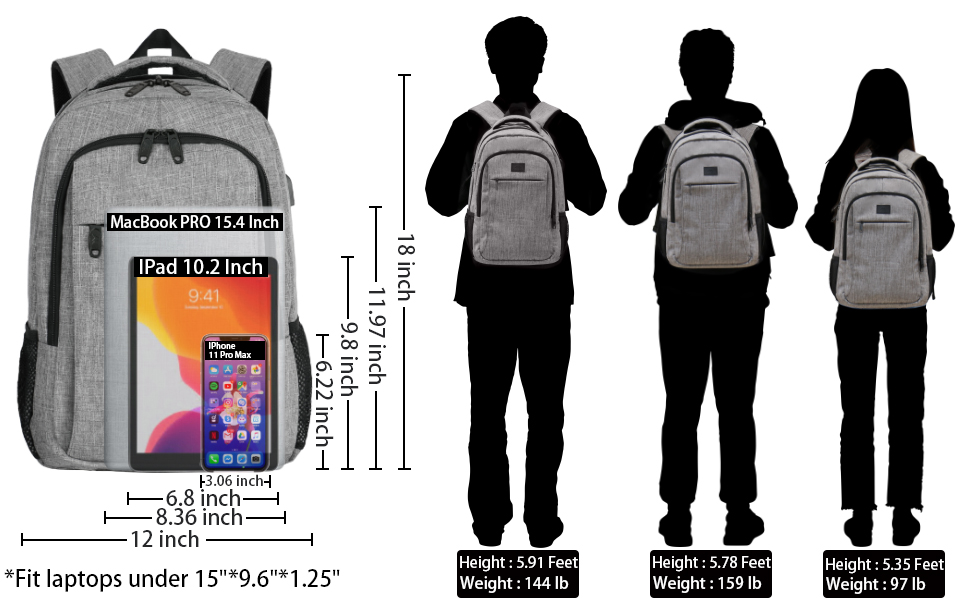 MATEIN mens bag womens bag backpack laptop bag laptop backpack rucksack schoolbag college backpack