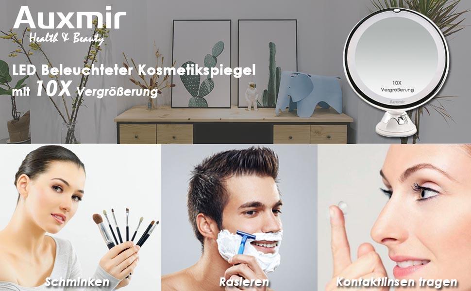 kosmetikspiegel spiegel schminkspiegel rasierspiegel makeup mirror geschenk mit licht