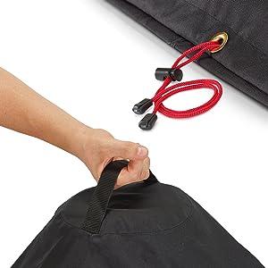 Premium Qualität für Deinen Gr BARTSTR Hochwertige Kugelgrill Abdeckung 67cm