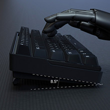 60% mechanical keyboard ergomonic design feet comfort