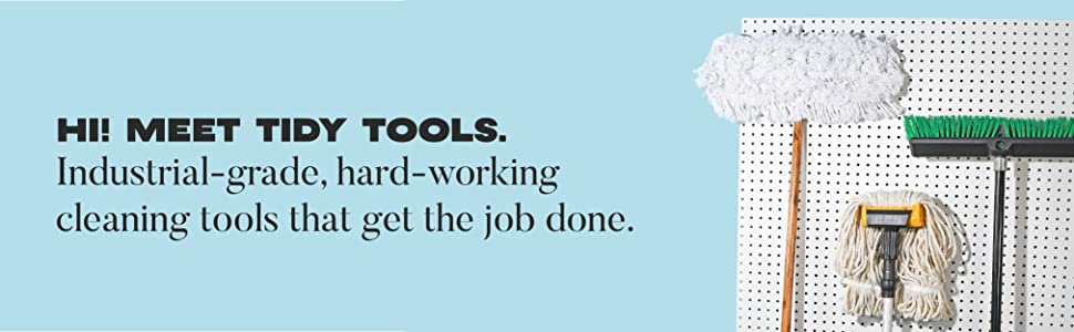 Tidy Tools dust mops and brooms