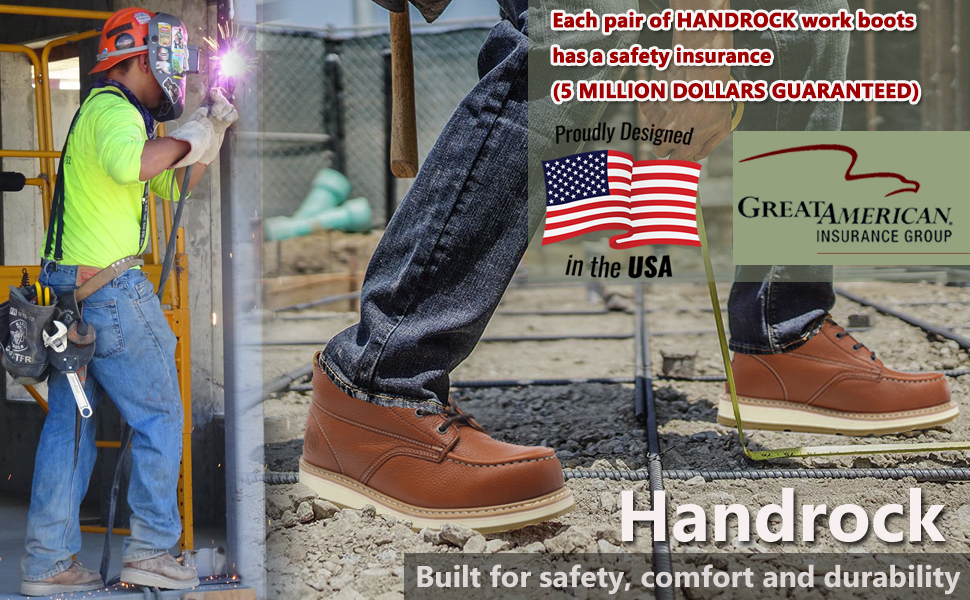 comfortable moc toe work boots for men water resistant