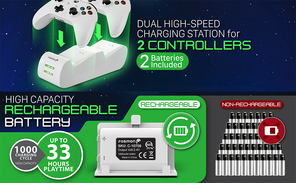 dual charging station xbox charger