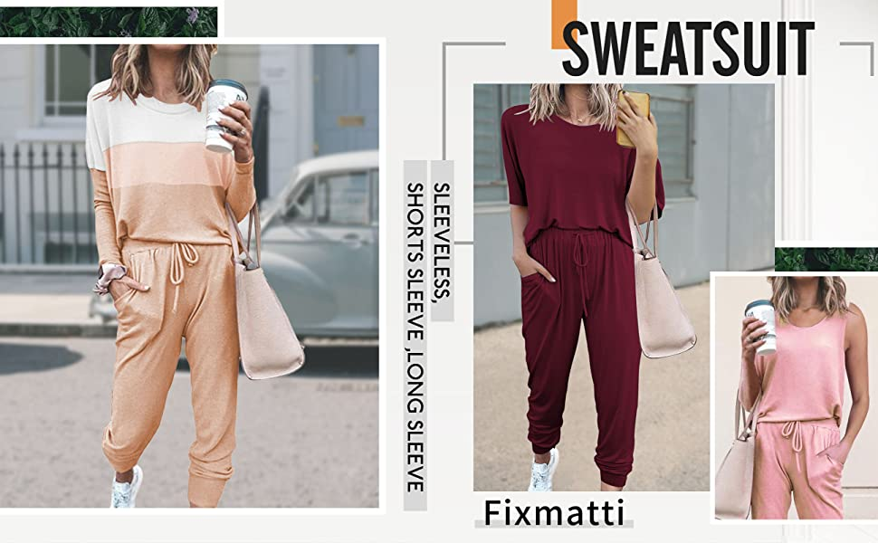 Sleeveless sweatsuits women 2 piece outfits sets casual