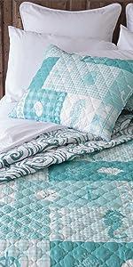 Donna Sharp, Sear Horse Grid, Quilt Sets, Reversible